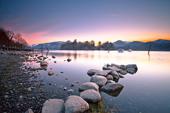 Twilight over Derwentwater (PeterYoung1.) Tags: uk england lake nature beautiful landscape twilight lakedistrict scenic derwentwater keswick atmospheric