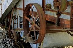 Farm equipment Primrose Farm Saint Charles IL (Meridith112) Tags: wheel rural illinois nikon rust farm il kanecounty farmequipment saintcharles 1860 cornhusker primrosefarm nikond7000 cornshredder kanecountyregisterofhistoricplaces