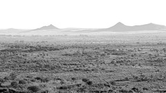 Faraway hills are greyer (Conor O'Dea) Tags: sun landscape blackwhite australia shade nsw outback brokenhill sculpturesymposium