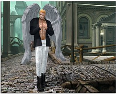 Angel Descended (Ravi Shelter) Tags: energie redsand kosh 22769 forgottencity mensdept hollywoodevent menswearfashionweek hispose