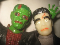 Cheap Green Rubber Frankenstein 's Monsters 8105 (Brechtbug) Tags: red portrait holiday black green film halloween monster by dark movie toy toys scary eyes paint glow mask ben action head decoration like s rubber spooky frankenstein rack cooper figure horror terror type 70s boris undead monsters universal 1970 mad corpse creature cheap fright played mego karloff reanimated 2013 jiggler