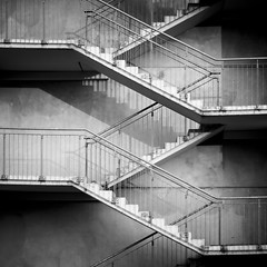 up and down (Blende1.8) Tags: bw white black 6x6 ikea architecture stairs canon square concrete garage parking steps stairway treppe step architektur sw schwarzweiss dsseldorf weiss schwarz escaleras beton treppen kahl quadrat s110 treppenhaus gelnder grafisch parkdeck absolutearchitecture weis treppengelnder 500x500 schwarzweis mbelhaus lieblos bestcapturesaoi flickrunitedaward elitegalleryaoi vigilantphotographersunite vpu2 vpu3 vpu4 vpu5 vpu6
