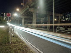 Off Ramping (Neil Ta | I am Bidong) Tags: longexposure toronto night 120film gardiner spadina donotenter offramp kodakportra bronicaetrs tgam:photodesk=urban2013