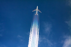 G-VLIP (jpro747) Tags: above blue sky up plane airplane rainbow contrail close aircraft aviation aeroplane aerial atlantic virgin trail telescope 400 overhead 747 vapour airliner aerodynamic dobsonian 2400mm