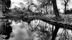 The Boat House - EXPLORED #6 (Raven Photography by Jenna Goodwin) Tags: trees blackandwhite white lake black reflection water monochrome hall shugborough flickrfriday flickrandroidapp:filter=none flfrnotok