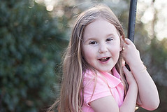 madness in the park (Marta A Orlowska) Tags: park pink green girl canon fun outdoors 50mm spring child ride bokeh daughter rope swing klara