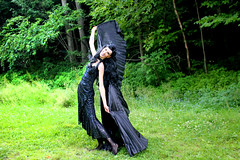 IMG_1747p (ScarletPeaches) Tags: fairy pixiefaerie fae isiswings fantasy outdoors bethw goth blackdress