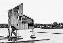 Lake Banook Judges Tower (Vanili11) Tags: judgestower club boat blackandwhite bw structure building team golden sun glow sunrise fitness exercise water fiberglass fit horizon training kayaking paddling sport practice rowing river summer canoeing athletic boating outdoors members muscular return walking young wooden woman landing slender disembarking arrival equipment carrying friends hobby property lakefront entranceway community fun gate horizontal stairs summertime