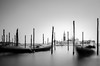 Sticking Out // Venezia (//Sebastian) Tags: venice italy lombardy black white bw monochrom longexposure water boats harbor blurr sticks building tower piazzasanmarco grandcanal chiesadisangiorgiomaggiore zaccharia ghosts calm clear sky bound