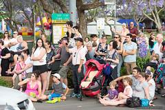 Crowd snapshot - Jacaranda Parade 2015 (sbyrnedotcom) Tags: 2015 people events grafton jacaranda parade rural town crowd snapshot nsw australia