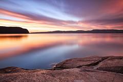 Lever  du jour sur la Baie Des Ha! Ha! du 23-08-2015 (gaudreaultnormand) Tags: canada fjord labaie leefilter leverdesoleil longexposure longueexposition pastel reflet river riviere saguenay sunrise