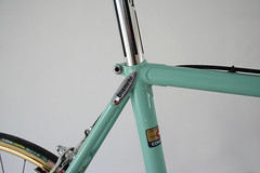 "9 months ago I bought a frame.  It turned out to be a Bianchi Supercorsa from 1982. It had been repainted a few times. I didn't really care for the ""Toys R Us"" theme so I stripped it clean only to find out the chrome was in ""bad-ish"" condition.  Only the (hartsneralbin) Tags: steelvintagebike or7 pantograph mavic specialoro supercorsa bikestagram oro builtfromscratchsvb portacatena campagnolo superrecord evereatchain steelisreal everest bikeporn instabike freewheel alloy engraved competizione bikelife steelbike chrome specialissima 3ttt celeste bianchi gold"
