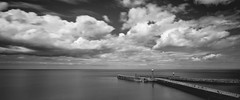 Whitby (Soap Creatives) Tags: wideangle water widescreen wide whitby england reflection town y yorkshire outdoor people panorama artistic artisticphotography architecture sky skyscape sea seascape dramatic fineart horizon harbor harbour pier landscape longexposure city view vast blackandwhite northyorkshire