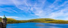 Craig Goch (Antony Clarke) Tags: canon 7d mkii mk2 panorama wales elan valley resevoir sky fields green blue dam