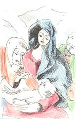 religise szene (JENS01) Tags: zeichnung kohle papier bleistift drawing sketching painting malerei skizze sketchbook art kunst graphite pencildrawing paperwork urban doodle l oil tusche portrait