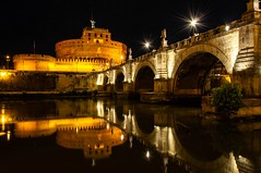 Castel Sant'Angelo  (Roma) (STEFANO.80) Tags: roma italia castello ponte notturna rome italy tevere river rio castillo