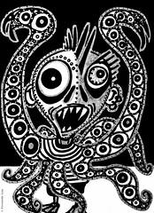 Cor de monstre 11 (Fernando Laq) Tags: monster monstruo monstre dibujo dibuix bn grises