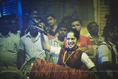 .   . . . (Sagar Mahadik Photography) Tags: dholtasha dhol vadak dholpathak puneridholpathak veergarjana maha maharashtra ganpatifesitval culture expressions action satisfaction smile masti