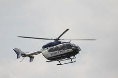 Rettungshubschrauber am Pferdskopf / Wasserkuppe 160814_101 (jimcnb) Tags: 2016 august wasserkuppe rhn hessen hubschrauber polizei helicopter dhheb