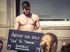 What's fair? (elizunseelie) Tags: edinburgh fringe edfringe scotland city old town royal mile people portraits performer theatre arts culture street