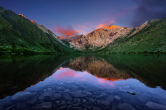 Morning has Broken (Godspeed70) Tags: morning sunrise cloud sky water lake convictlake mountain forest reflection mirror california landscape clear