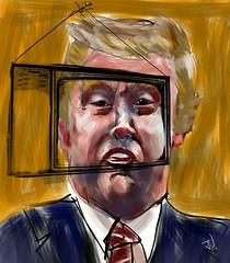 "Talk is Cheap (""Jimmer"" ( http://jim-vance.pixels.com )) Tags: trump caricature portrait"