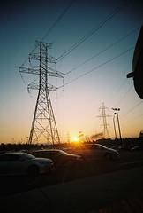 F12 (takeitslowlyy) Tags: film 35mm kodak toronto canada finch sunset cablelines