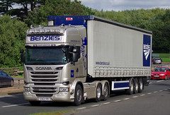 Benzies Scania R620 SV63YRS on the A90, Dundee, 25/9/16 (andyflyer) Tags: benzies scaniar620 sv63yrs scania truck lorry hgv roadtransport haulage a90