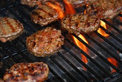 hamburgers on barbeque (jakewhitford) Tags: hamburger hamburgers burger burgers barbeque barbecue grill grilling fire flame flames coal coals cook cooking outside outdoor outdoors summer party grid meat meal food beef barbequing barbecuing ready prepare bbq picnic cookout dinner eat eating charcoal delicious yummy smoke juicy canada