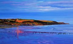 Evening Glow On Knockadoon Peninsula (niall mccarthy) Tags: evening glow painting art acrylics acrylic seascape sunshine sunlit land sea meet knockadoon ballinwilling beach strand shore tide sunlight sunset setting sun blue silver peninsula headland east cork landscape