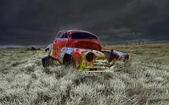 Joseph and the Amazing Technicolor Dream Car-Abandoned -South Dakota FB PAGE (j_piepkorn65) Tags: abandoned abandonedsouthdakota ruralexploration ruraldecay decay rusty carcass car vintage vehicle badlands badlandsnationalpark