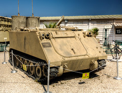 armored personnel carrier (maskirovka77) Tags: israeldefenseforces idf museum idfmuseum tanks m48 outdoors hdr armoredcar artillery antiaircraft armoredpersonnelcarrier bridgingequipment