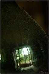 reflections (HP016157) (Hetwie) Tags: reflection fles reflectie frankrijk lahauteloire window stof raam bottle dust bocante folgoux france malvieres hauteloireauvergne