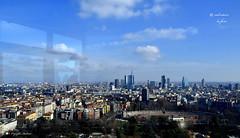 MILANO, DALLA FINESTRA ! (Salvatore Lo Faro) Tags: milano lombardia italia italy cielo nuvole azzurro bianco grattaceli citt costruzioni finestra panorama torre branca salvatore lofaro nikon 7200