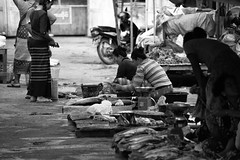 Inle Lake Street Market (virtualwayfarer) Tags: inlelake myanmar burma southeastasia asia shanstate shan market streetmarket outdoormarket street dailylife streetphotography canon6d canon village villagelife people life lifestyle indietravel budgettravel indietraveler budget nyaungshwetownship nyaungshwe