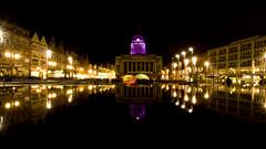 Nottingham's Light Night 2013 (DaveKav) Tags: nottingham light reflection night purple olympus nightlight nottinghamshire oldmarketsquare councilhouse e510 2013