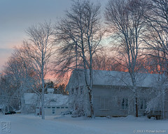 Sunset, Blizzard of 2013 -- Marshfield Hills (JMichaelSullivan) Tags: sunset snow dusk massachusetts dxo blizzard marshfield mjsfoto1956 2013 marshfieldhills nras