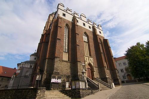 Kościół św. Jana Ewangelisty w Paczkowie od północnego zachodu