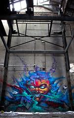 Playing Games (Fat Heat .hu) Tags: building abandoned graffiti hungary character cfs coloredeffects fatheat