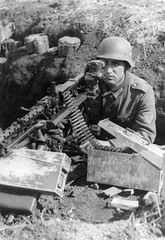 German soldier aiming his MG-34 (Krueger Waffen) Tags: war wwii mg german ww2 guns heer waffenss weapons firearms worldwartwo wehrmacht germansoldier landser mg34 secondworldwartanks
