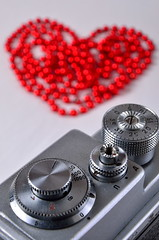 She Pushes My Buttons and Dials. (jonshort58) Tags: camera red film heart buttons valentinesday dials zorki4
