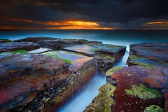 Stormy Sunrise (Noval N | Photography) Tags: morning cloud seascape storm nature rock sunrise landscape australia