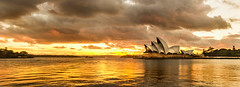 Operatic (Tim Archer Photos) Tags: sunset urban panorama orange sun house water clouds sunrise opera sydney australian australia nikkor operahouse sydneyharbour afsnikkor2470mmf28ged