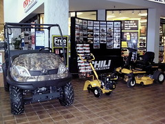 Utility Vehicle, Zero Turn Mower And Tiller At The Chili Implement Display. (dccradio) Tags: wisconsin mall farming equipment machinery ag agriculture wi agricultural farmequipment farmshow marshfield farmmachinery centralwisconsin shoppesatwoodridge marshfieldmall wisconsinfarming machineryshow agshowagricultureshow