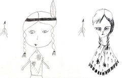 drawing girls 6. (pretty little thieves) Tags: illustration kidsart girlart drawinggirls