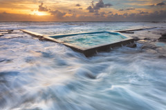 Pool (stevoarnold) Tags: sea seascape water pool clouds sunrise rocks sydney australia nsw newsouthwales illawarra coalcliff