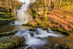Scaleber Force...IMG_8745.jpg (Katybun of Beverley) Tags: uk longexposure trees landscape waterfall rocks yorkshire hdr yorkshiredales settle scaleberforce