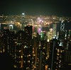 Night on HK (cdolls) Tags: hk color film night rollei rolleiflex square hongkong squareformat nuit couleur 120mm hongkongbay