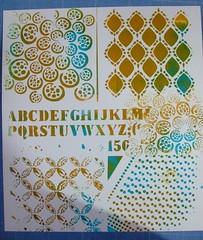 monoprint 1 (Chantal 61) Tags: stencils monoprint pbo glatine peintureacrylique balzerdesigns