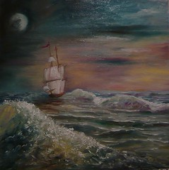 / Night at sea (stanka_deneva) Tags: ocean sea art nature painting landscape oil             stanka:site=show